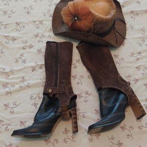 Leather half chaps
